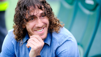 ELCHE, SPAIN - MAY 11: Carles Puyol of FC Barcelona looks on prior to the La Liga match between Elche FC and FC Barcelona at Estadio Manuel Martinez Valero on May 11, 2014 in Elche, Spain.  (Photo by David Ramos/Getty Images)