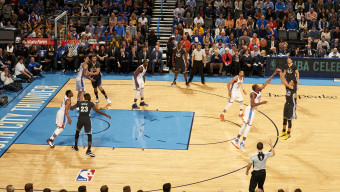 Basketball: Golden State Warriors Stephen Curry (30) in action, three point shot vs Oklahoma City Thunder Kevin Durant (35) at Chesapeake Energy Arena. Oklahoma City, OK 2/27/2016 CREDIT: Greg Nelson (Photo by Greg Nelson /Sports Illustrated/Getty Images) (Set Number: SI-216 TK1 )