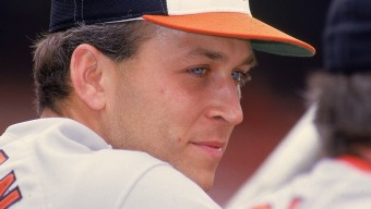UNITED STATES - MAY 17:  Baseball: Closeup of Baltimore Orioles Cal Ripken Jr, (8) in dugout during game vs California Angels, Anaheim, CA 5/17/1987  (Photo by V.J. Lovero/Sports Illustrated/Getty Images)  (SetNumber: X34837 TK2 R5 F20)