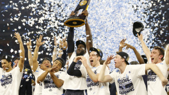 JUBE Villanova takes on North Carolina on April 4, 2016 during the NCAA National Championship game at the at NRG Stadium in Houston, Tx. (Photo by Jed Jacobsohn for the Players' Tribune)