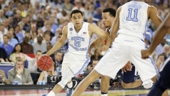 Marcus Paige, 5, as Villanova takes on North Carolina on April 4, 2016 during the NCAA National Championship game at the at NRG Stadium in Houston, Tx. (Photo by Jed Jacobsohn for the Players' Tribune)