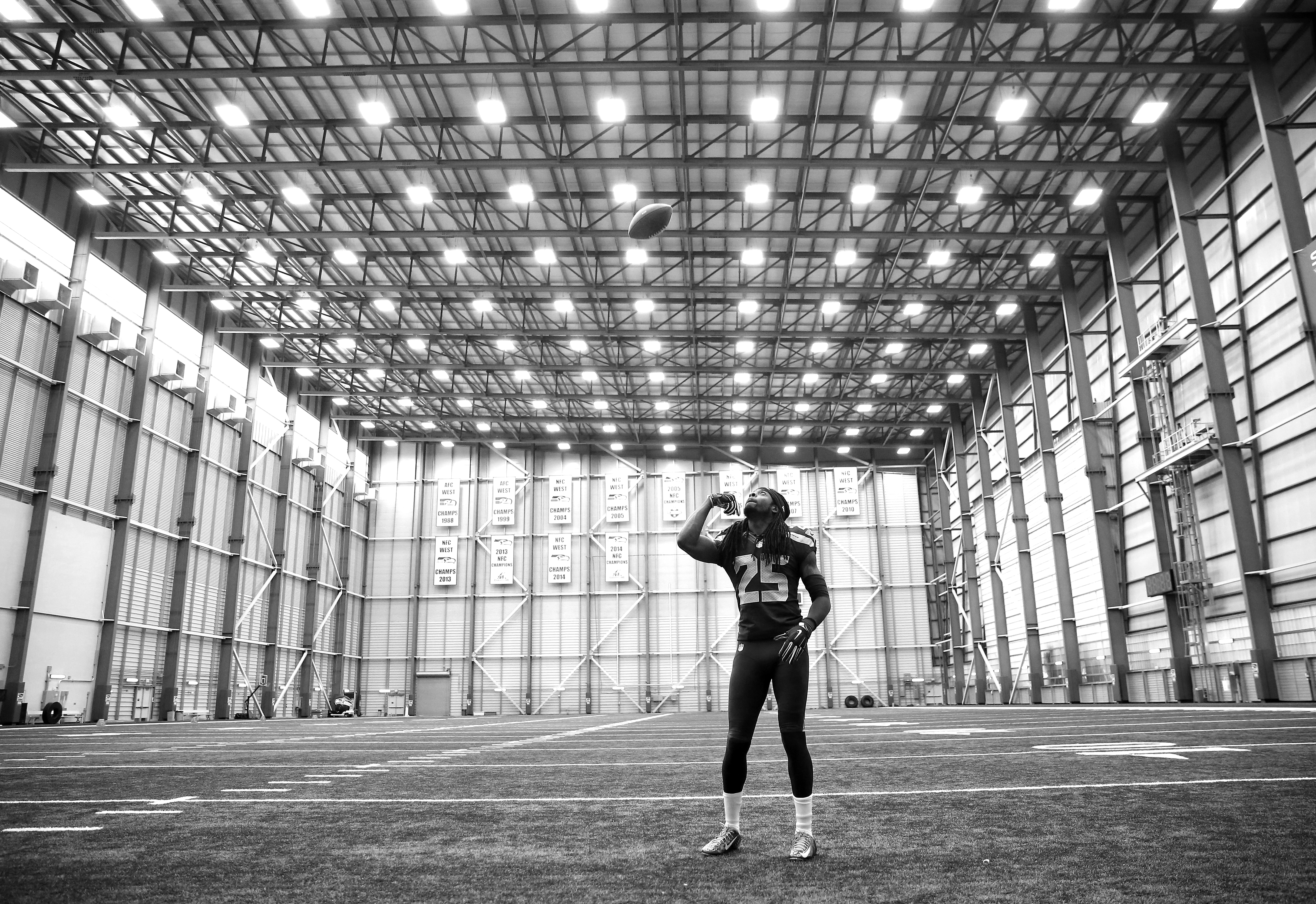 Richard Sherman of the Seattle Seahawks in Seattle, WA on June 8, 2016. (Photo by Jed Jacobsohn for the Players' Tribune)
