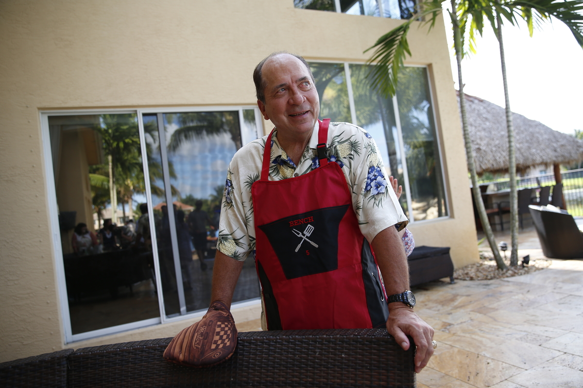 summer days with johnny bench by the players u0027 tribune