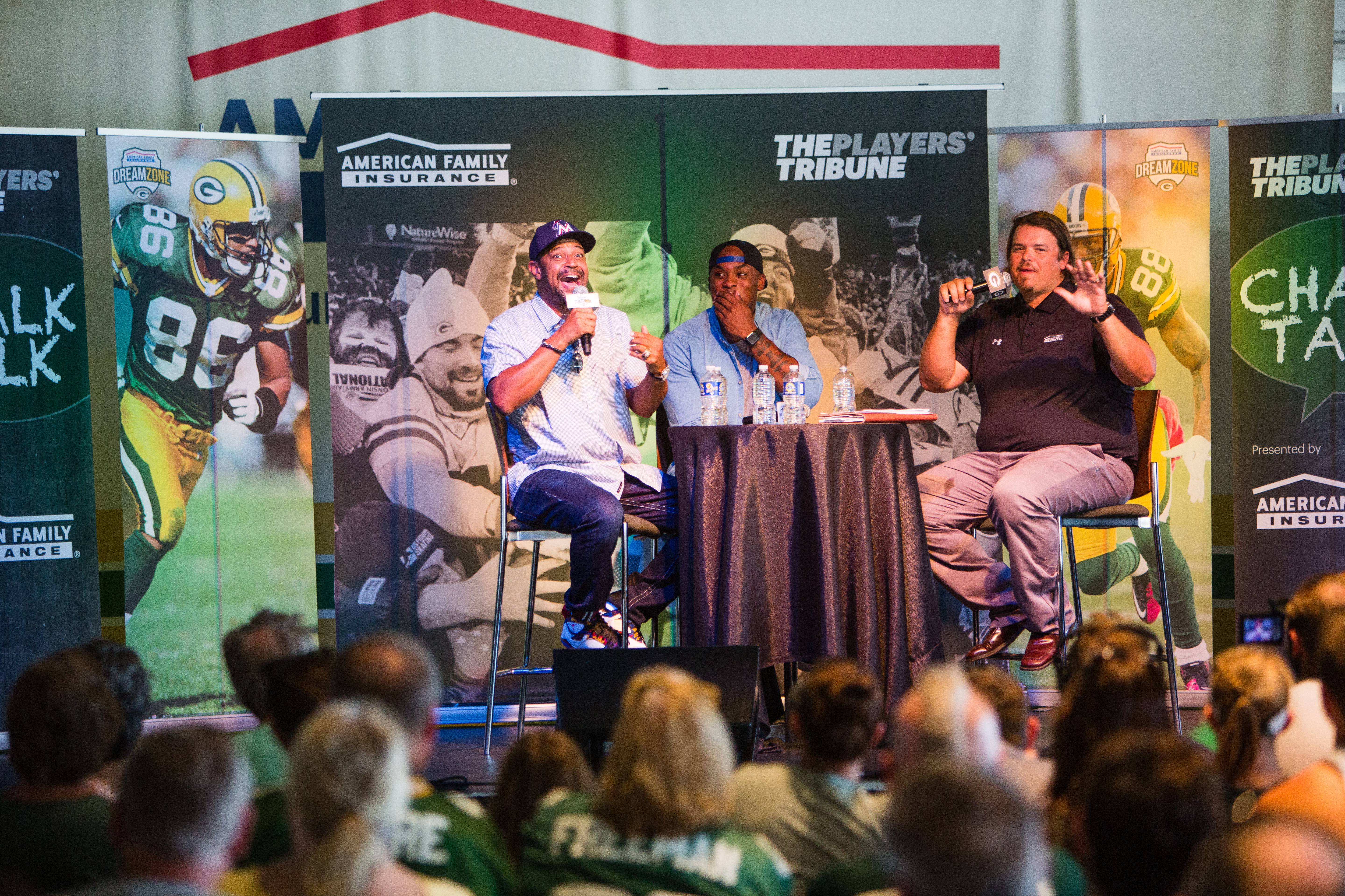 inside the American Family Insurance Dream Zone outside of Lambeau Field in Green Bay, WI on July 30, 2016. (Photo by Sam Maller/The Players' Tribune)