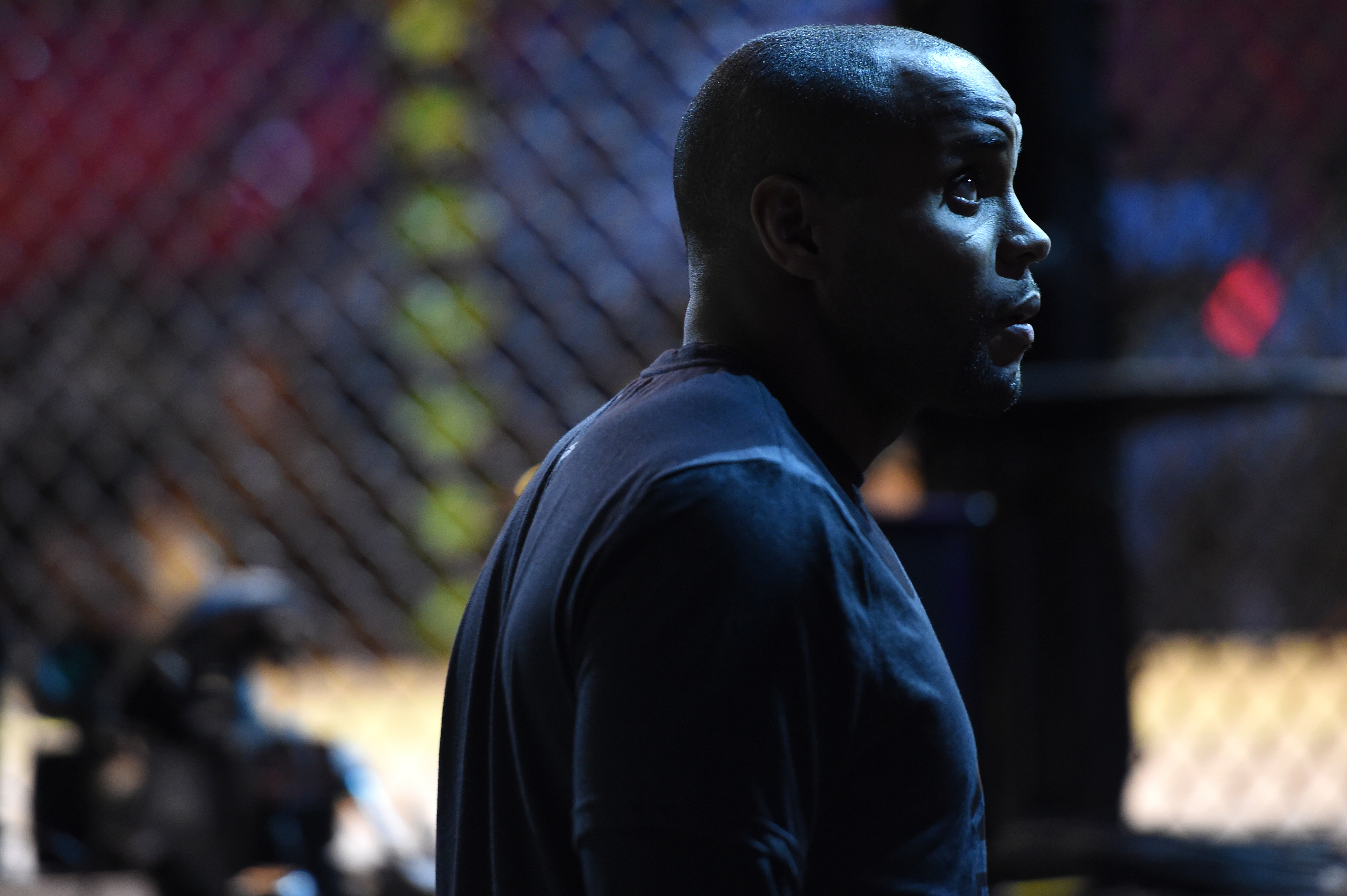HOUSTON, TX - OCTOBER 02: Daniel Cormier waits backstage during the UFC 192 weigh-in at the Toyota Center on October 2, 2015 in Houston, Texas. (Photo by Mike Roach/Zuffa LLC/Zuffa LLC via Getty Images)