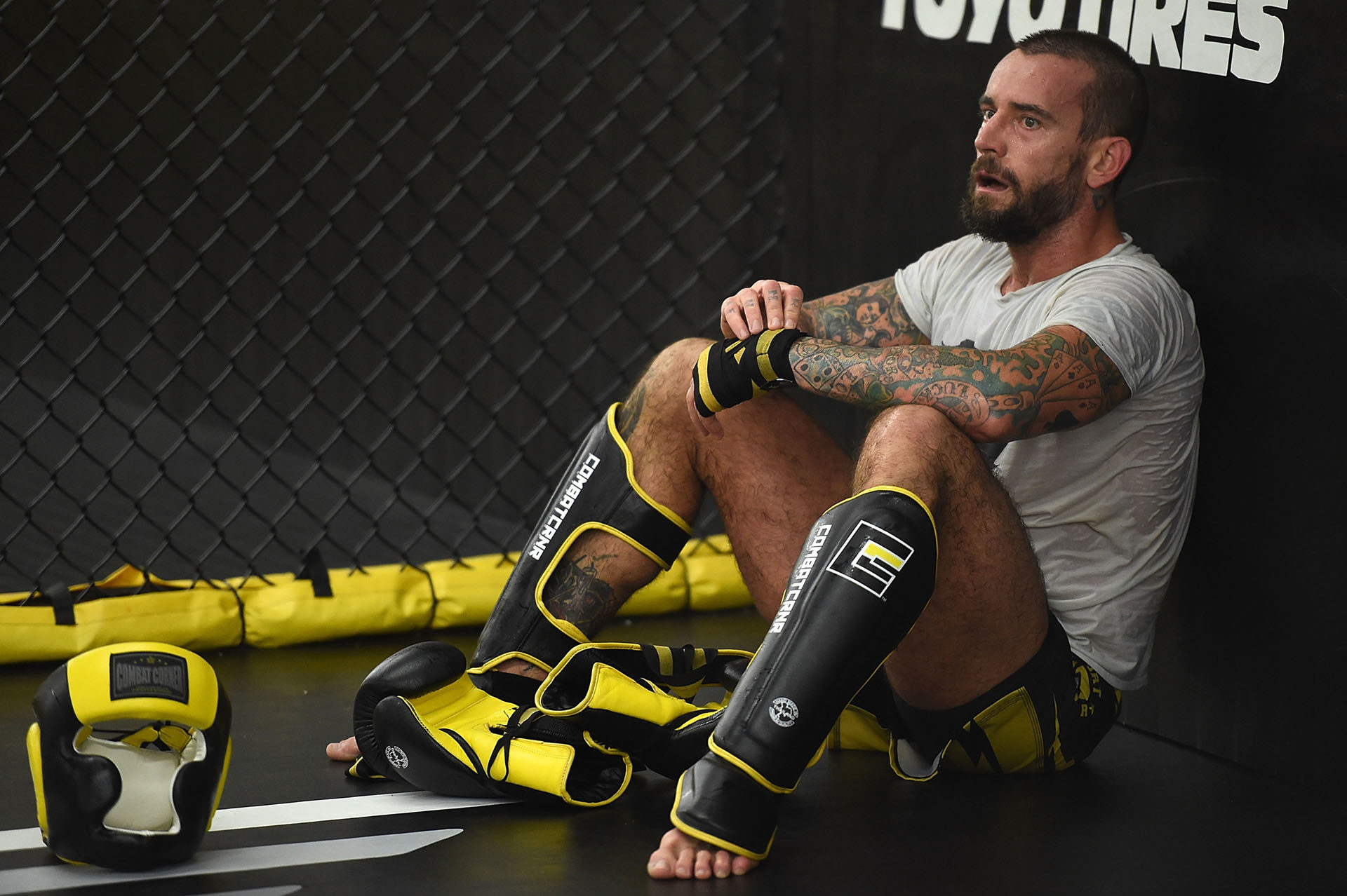 UFC's CM Punk Milwaukee Gym Day