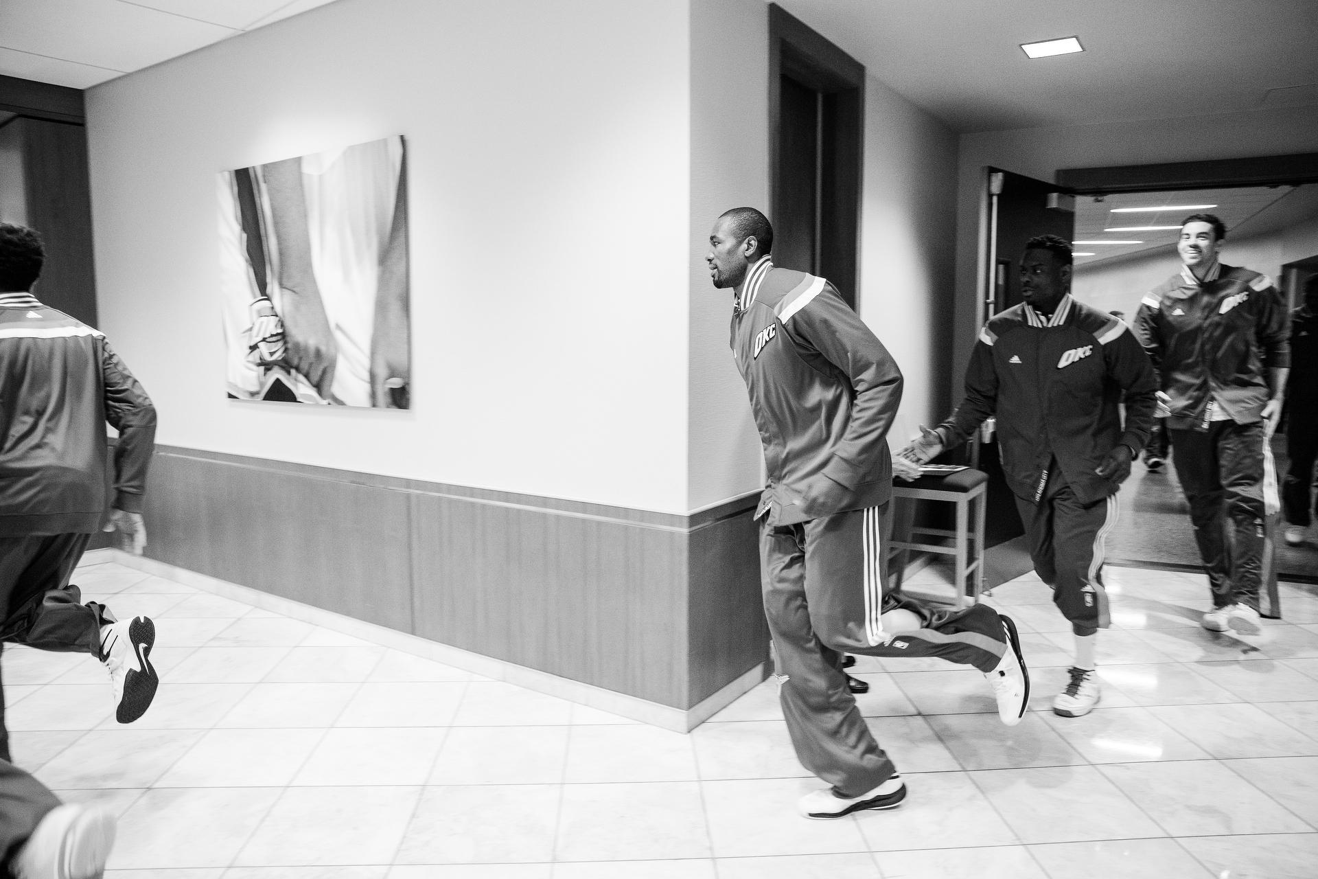 Serge Ibaka of the Oklahoma City Thunder, on January 8, 2015, in Oklahoma City, OK. (Photo by Jed Jacobsohn/The Players Tribune)
